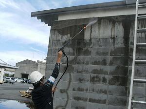 外壁 高圧水洗浄
