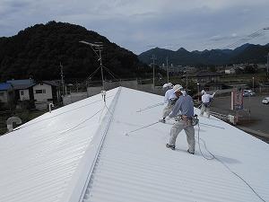 神戸天然化学市川 トップコート塗装